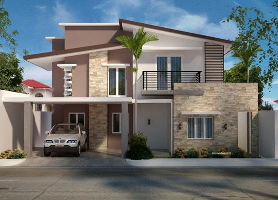 Renovasi rumah type 45 menjadi 2 lantai di lombok