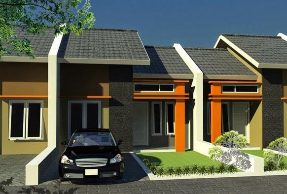 Rumah Satu Lantai Dengan Atap Pelana di lombok