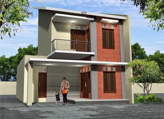 desain rumah modern minimalis 2 lantai di lombok