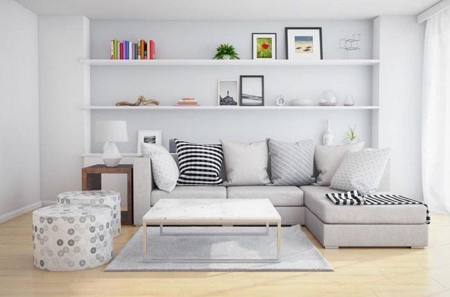 ruang tamu minimalis lombok