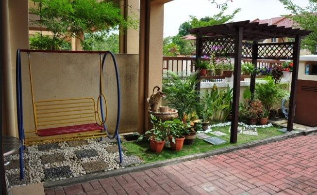 taman rumah minimalis type 36 di lombok