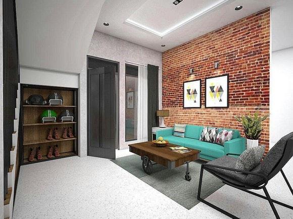 Desain Interior Industrial rumah lombok