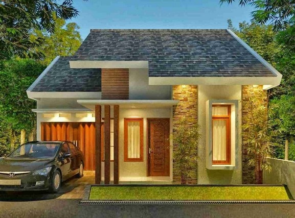 teras rumah minimalis lombok