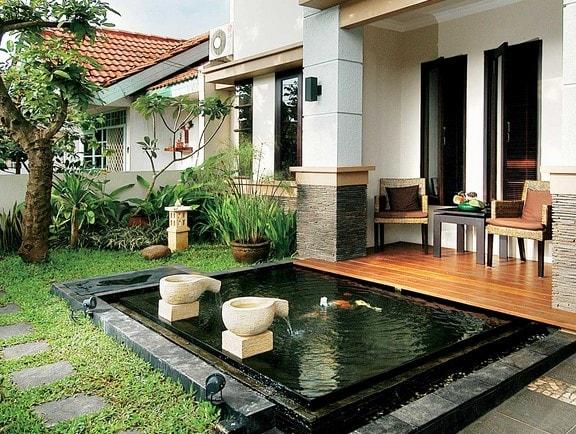 teras rumah minimalis sederhana lombok